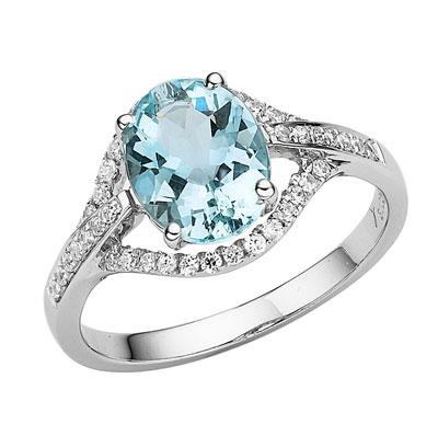 卓洋海蓝宝戒指