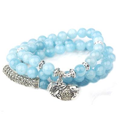 卓洋海蓝宝手链