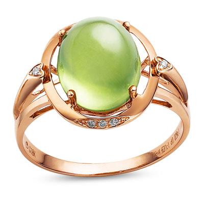 卓洋葡萄石戒指