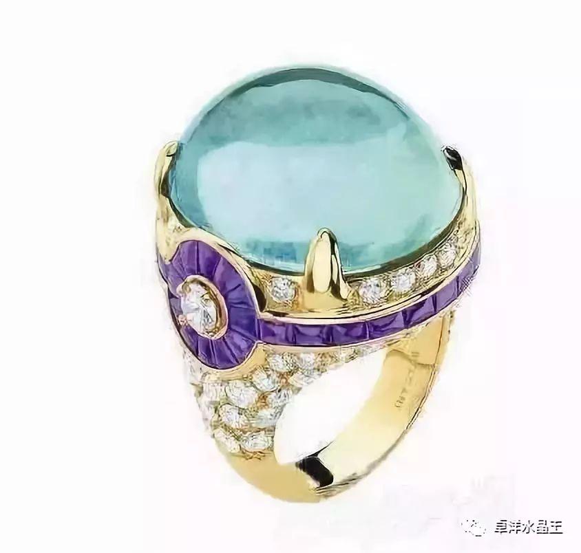 水晶海蓝宝石